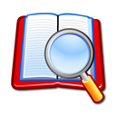 zoom, search, book icon