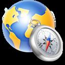 globe,compass,silver icon