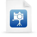 blue, document, paper, file icon