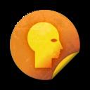 orange,grunge,sticker icon