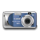 powershot, blue icon