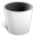 recycle bin, trash, blank, empty icon