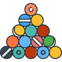 Sports Billiard balls icon