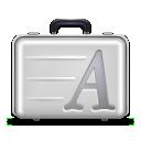 font,suitcase icon