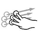 three, finger, flick, gestureworks icon