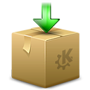 Ark, Arrow, Box, Download, Kde, Package icon