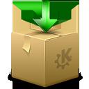 Ark, Arrow, Box, Download, Kde, Package icon