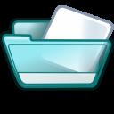 folder cyan icon