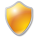 shield, yellow, guard, security, protect icon
