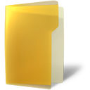 yellow, folder, open icon