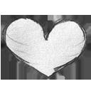 handdrawn, favorites, love, heart icon