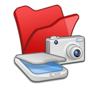 scanners, folder, &, cameras, red icon