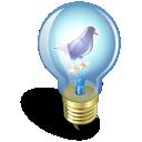 light, bulb, twitter icon