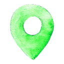 location, pin, map icon