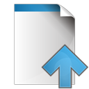 up, arrow, document icon