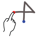 stroke, add, gestureworks icon