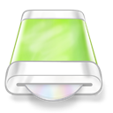 Disk, Drive, Green icon