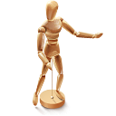 woodmannequin, artdesigner, lv icon