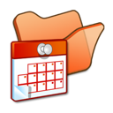 scheduled, tasks, orange, folder icon