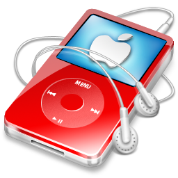 video, red, ipod, apple icon