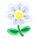 plant, flower, white icon