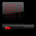 Black, Red, Startmenu icon