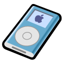 ipod, mini, blue icon
