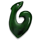 fish, animal, greenstone, hook icon