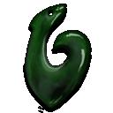 Fish, Greenstone, Hook icon