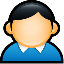 profile, coat, account, user, people, human, blue icon