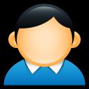 profile, coat, account, user, people, human, blue icon