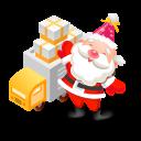 santa gifts truck icon