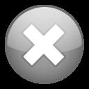 close, stop, cancel, no icon