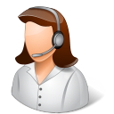 Occupations Technical Support Representative Female Light icon