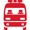 red, ambulance icon