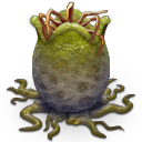 alien, egg, open icon