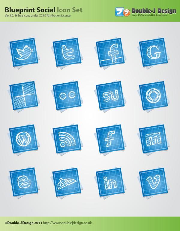 blueprint, social, preview icon