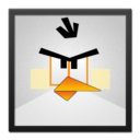 white,angrybird,blackframe icon