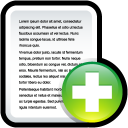 new, document, paper, file icon
