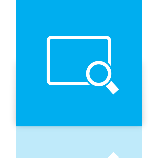 mirror, magnifier icon