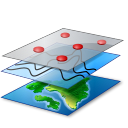 map, layer icon