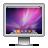 screen, aurora, snowleopard icon