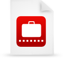 red, file, paper, document icon