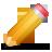 yellow, edit, write, pencil icon