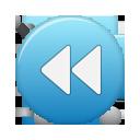button, rew, blue icon