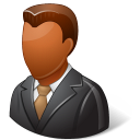 dark, male, client icon