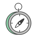journey, north, compass, hiking, travel, trip, direction icon