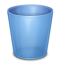 blank, trash, empty, recycle bin icon