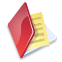 folder, document, red, file, paper icon
