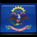 flag, dakota, north icon